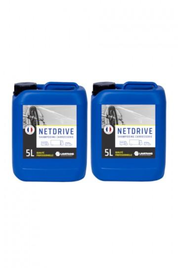 2 x NETDRIVE | Shampoing carrosserie tous véhicules | bidon 5L
