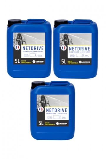 3 x NETDRIVE | Shampoing carrosserie tous véhicules | bidon 5L